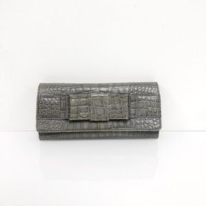 MICHAEL KORS COLLECTION Embossed Leather Clutch